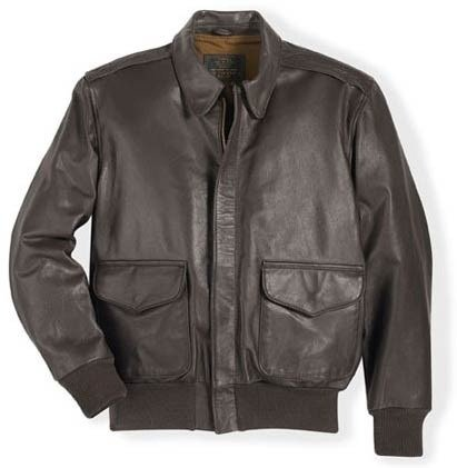 Cockpit USA Men's U.S. Air Force 21st Century A-2 Goatskin Leather Jacket, Brown, 50 LONG by Cockpit USA (Image #1)