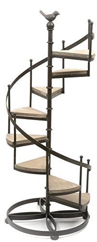 Spiral Staircase Display Stand Industrial Loft Look Metal Spiral Staircase Display Shelves Stand 23