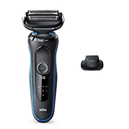 Braun Electric Razor for Men, Series 5 5018s Electric Shaver with Precision Trimmer, Rechargeable, Wet & Dry Foil Shaver…