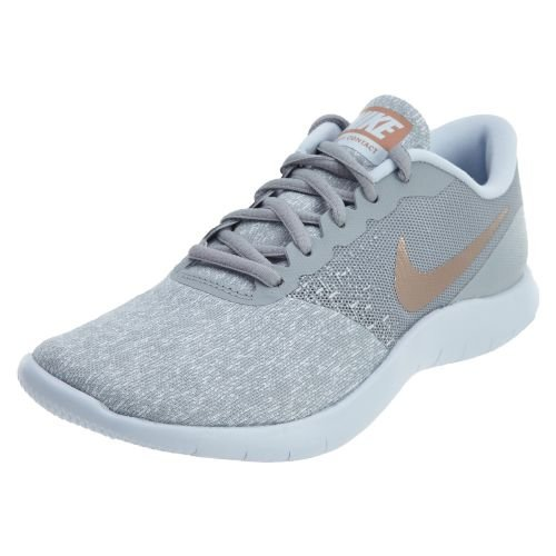 Nike Women's Flex Contact Running Shoe Wolf Grey/Metallic Rose Gold (7 B(M) US)