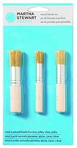 Martha Stewart Crafts 32802 Stencil Brushes, Set of 3
