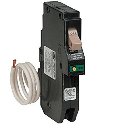 Eaton Cutler Hammer CH Series 1 Single Pole 15 Amp Cafi Afci Combination Type Arc Fault Circuit Breaker (Cutler Hammer Type)