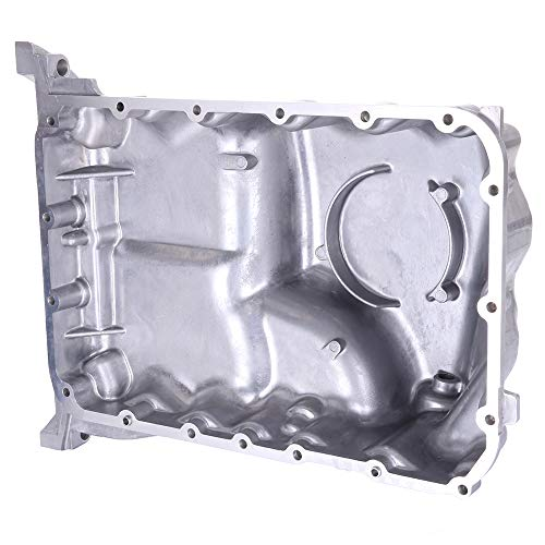 SCITOO Compatible with 264-485 Engine Oil Pan Steel Assembly Fits 03-10 V6 3.5L Cummins Diesel Honda Odyssey Pilot Ridgeline Acura MDX Pickup Truck