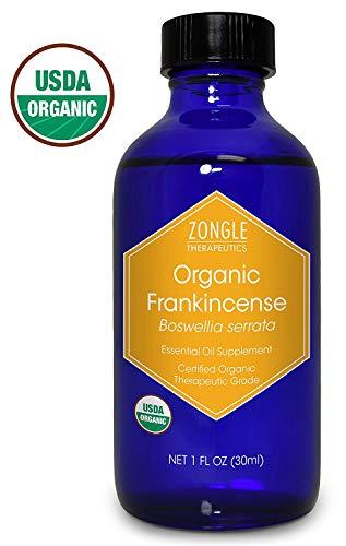 Zongle USDA Certified Organic Frankincense Essential Oil, Safe To Ingest, Boswellia Serrata, 1 OZ (Best Way To Take Frankincense Oil)