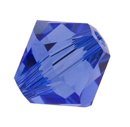 100pcs Genuine Preciosa Bicone Crystal Beads 4mm Sapphire Blue Alternatives For Swarovski #5301/5328 #preb413
