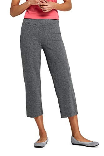 - Lands' End Women's Petite Starfish Elastic Waist Pull On Capri Pants Charcoal Heather