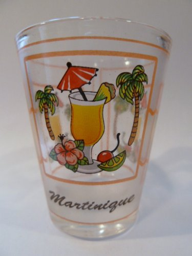 - Martinique Tropical Drink Shot Glass