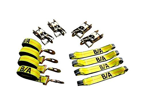 (Ships in 1 to 2 Business Days! BA Products 38-200SH-x1 8 Point Tie Down System with Snap Hooks on Ratchets and Straps for Rollback)