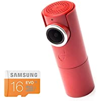 GOLUK T3 in FIRE RED compact car dashcam WiFi Full HD 1080P G-sensor Night vision 16Gb SD card Included