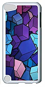 Fashion Customized Case for iPod Touch 5 Generation White Cool Plastic Case Back Cover for iPod Touch 5th with Abstract