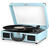 Victrola Portable Suitcase Turntable with Bluetooth (Turquoise)