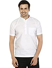 Maple Clothing Cotton Mens Short Sleeve Short Kurta Shirt Indian Dress