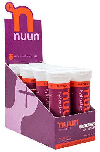 Nuun Hydration: Electrolyte Drink Tablets, Tri-Berry, Box of 8 Tubes (80 servings), to Recover Essential Electrolytes Lost Through Sweat