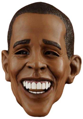 Forum Novelties Men's Barack Obama Deluxe Latex Mask, Brown, One (Barack Obama Halloween Mask)