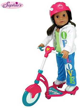 Doll Scooter And Helmet Set Perfect For 18 Inch FREE SHIP