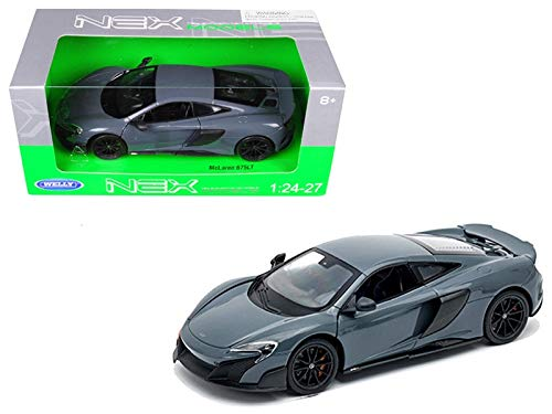 Welly McLaren 675LT Coupe Gray 1/24-1/27 Diecast Model Car