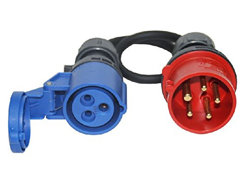 CEE Adapter Starkstrom 16A Stecker 5-polig auf CEE 230V 3-polig Kupplung