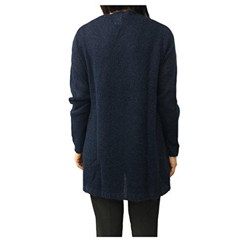 LA FEE MARABOUTEE cardigan donna blu/lurex rame mod FA1269 MADE IN ITALY
