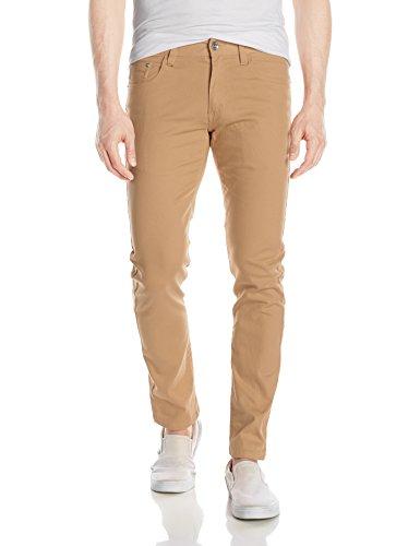 Khaki Color Jeans - WT02 Men's Basic Color Twill Stretch Span Pants, Light Khaki(New), 32X32