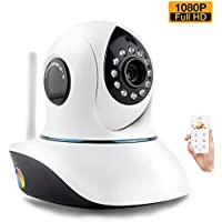 1080P Wireless WiFi Security Camera HD Pan Tilt IP Network Surveillance Webcam,Baby Monitor,Remote View Two-Way Talk Dog Cam