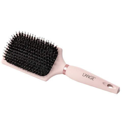 (LANGE SIENA Paddle Hair Brush - Pink Hair Detangler Wide Brush with Nylon Bristles for Women & Men - Professional Hair Volumizer Brushes for Detangling, Volumizing, Heat Resistant Non Slip - MSRP $30.)