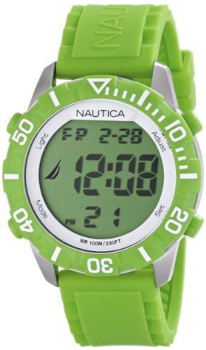 Nautica Unisex N09926G NSR 100 Green Digital Watch