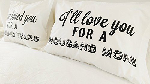 A Thousand Years Christina Perri Song Couples Pillowcases Romantic Pillow Cases Anniversary Gift Cotton Anniversary Gift  sc 1 st  Importitall & A Thousand Years Christina Perri Song Couples Pillowcases - Import ...