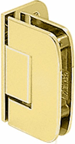 CRL R0M044BR Polished Brass Roman 044 Series Wall Mount Offset Back Plate Hinge