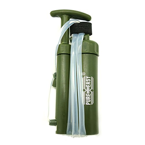 kbxstart Virus and Heavy Metal Tested 0.01 Micron Portable Water Filter. 3 Filter Stages - 2 Cleanable 100,000L UF Membranes and a Carbon Filter by kbxstart