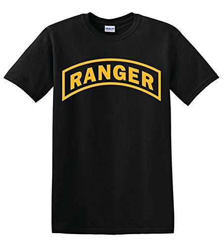 U.S. Army Ranger Tshirt. Black (Large)]()