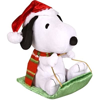 Peanuts Wobblin' Toboggan - Snoopy in Santa Hat Musical Motion Plush: Toys & Games
