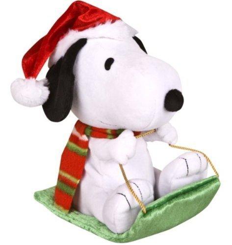 Peanuts Wobblin' Toboggan - Snoopy in Santa Hat Musical Motion Plush