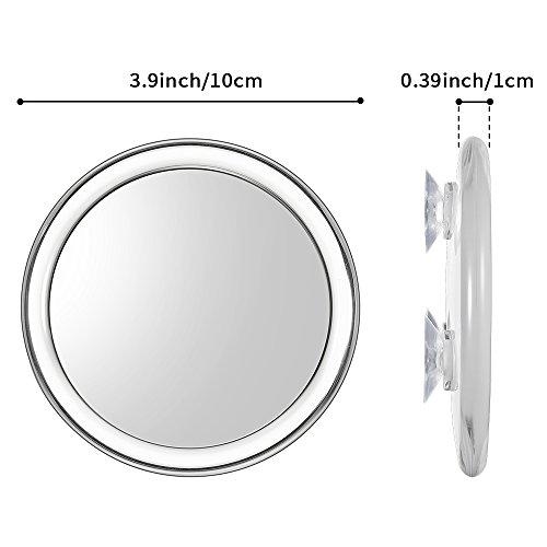 Uarzt-Makeup-Vanity-mirror10X-Magnifying-Mirror-detachable-beauty-mirror-4-Inch-Round-Makeup-Cosmetic-Mirror-for-Bathroom-or-Bedroom-Table-10X