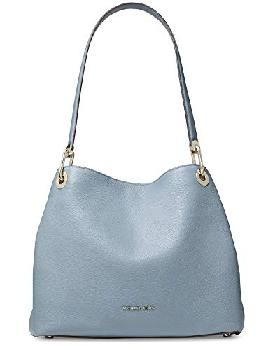 Michael Kors Raven Large Shoulder Tote, Powder Blue (Light Blue Michael Kors Handbags)