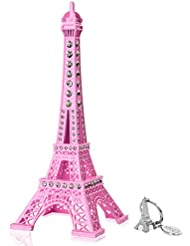 SiCoHome Eiffel Tower Cake Topper,7.0inch Pink Eiffel Tower Decor with Blings