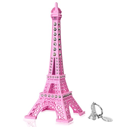 SiCoHome Eiffel Tower Cake Topper 7.0inch Pink with Blings Figurine Replica Centerpiece Room Table Eiffel Tower Decor French Souvenir Gift From Paris,France,for Gifts,Party And House (Eiffel Tower Cake Topper)