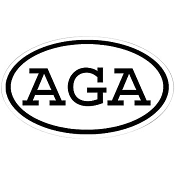 CafePress AGA Oval Oval Sticker Oval Bumper Sticker, Euro Oval Car Decal