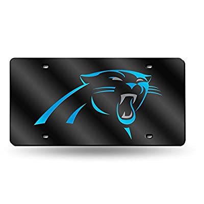 NFL Rico Industries Laser Inlaid Metal License Plate Tag, Carolina Panthers : Sports Fan License Plate Covers : Sports & Outdoors