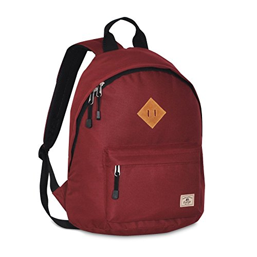 Everest Vintage Backpack, Burgundy, One Size