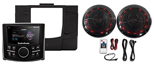 Rockford Fosgate Polaris RZR-STAGE1 Digital Media Receiver+Dash Kit+LED Speakers by Rockford Fosgate