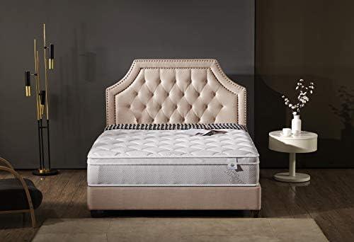 "Oliver Smith® Perfect Sleep Comfort Plush Euro-Pillow Top 10/"" Organic Cotton Mat"