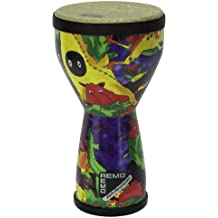 "REMO Drum, KIDS PERCUSSION, Doumbek, 6"" Diameter, 10"" Height, Fabric Rain Forest"