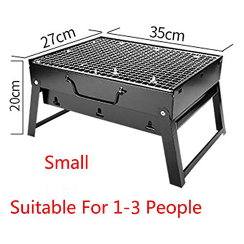 Maikouhai Large Portable BBQ Barbecue Grill Steel Charcoal Grill for Outdoor Patio Garden Camping Seaside Beach Birthday Party (Suit 1-3 Person)