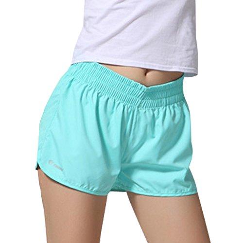 Esecuzione Donne Estate Pantaloncini Boardshorts Pantaloncini Ragazze Formazione Sport Minetom chiaro Quick In Blu Drying Casuale Yoga Udqxzw