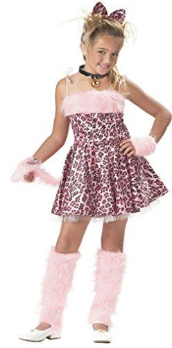 [Mememall Fashion Cute Pink Purrty Kitty Sassy Leopard Cat Girls Child Costume] (Pirate Kitty Costume)