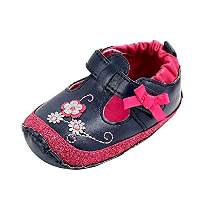 Tronet Baby Shoes, Newborn Baby Girls Flower Cartoon First Walkers Soft Sole Casual Shoes 0-18 Months