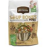 Rachael Ray Nutrish Soup Bones Minis Dog Treats, Real Chicken & Veggies Flavor, 6 Bones, 4.2 oz, Pack of 8