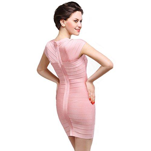 HLBCBG Damen Kleid Rosa Pink Rose znnLd3S