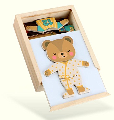 YChoice Educational Puzzle Kids Creative Wooden Educational Clothing Puzzle Early Toy Fantastic Gifts Kids(Bear)
