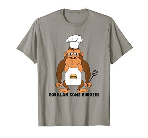 BBQ Grill Gorilla Shirt Chef Hamburgers Cooking Gift -